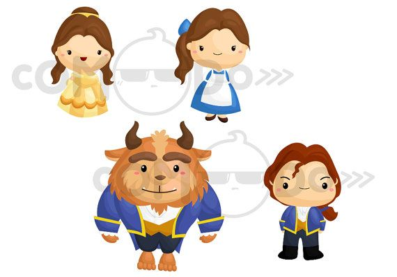 Beast clipart cute Clipart / Beauty by by