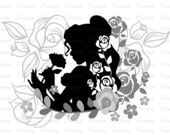 Beast clipart face Beauty Digital Image the Rose