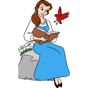 Beast clipart reading Sitting sitting book rock beauty