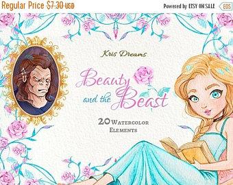 Beast clipart reading Belle Girl Beast Princess: Elements
