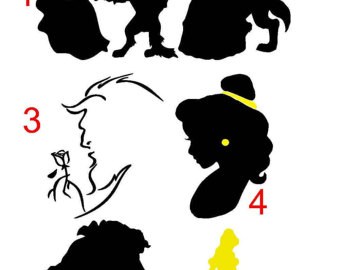 Beast clipart reading The Belle Beast decal on
