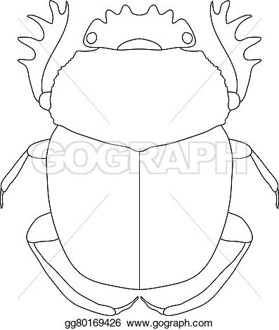 Beatle clipart staghorn Of Vector coloring dor isolated
