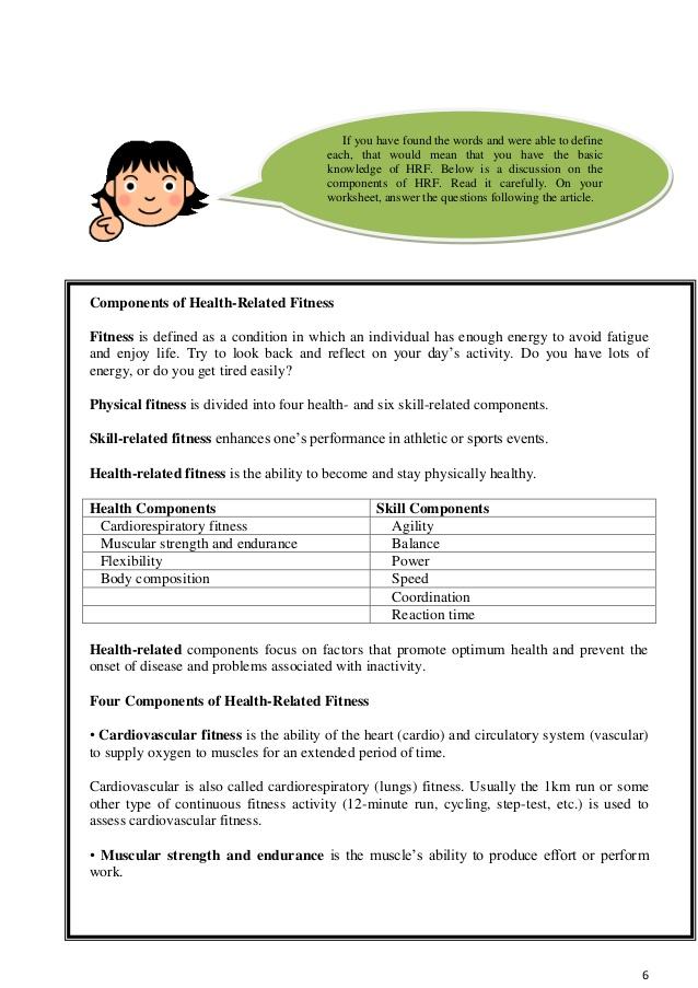 Beats clipart cardiorespiratory fitness Module(Q1) 8 PE Grade 6