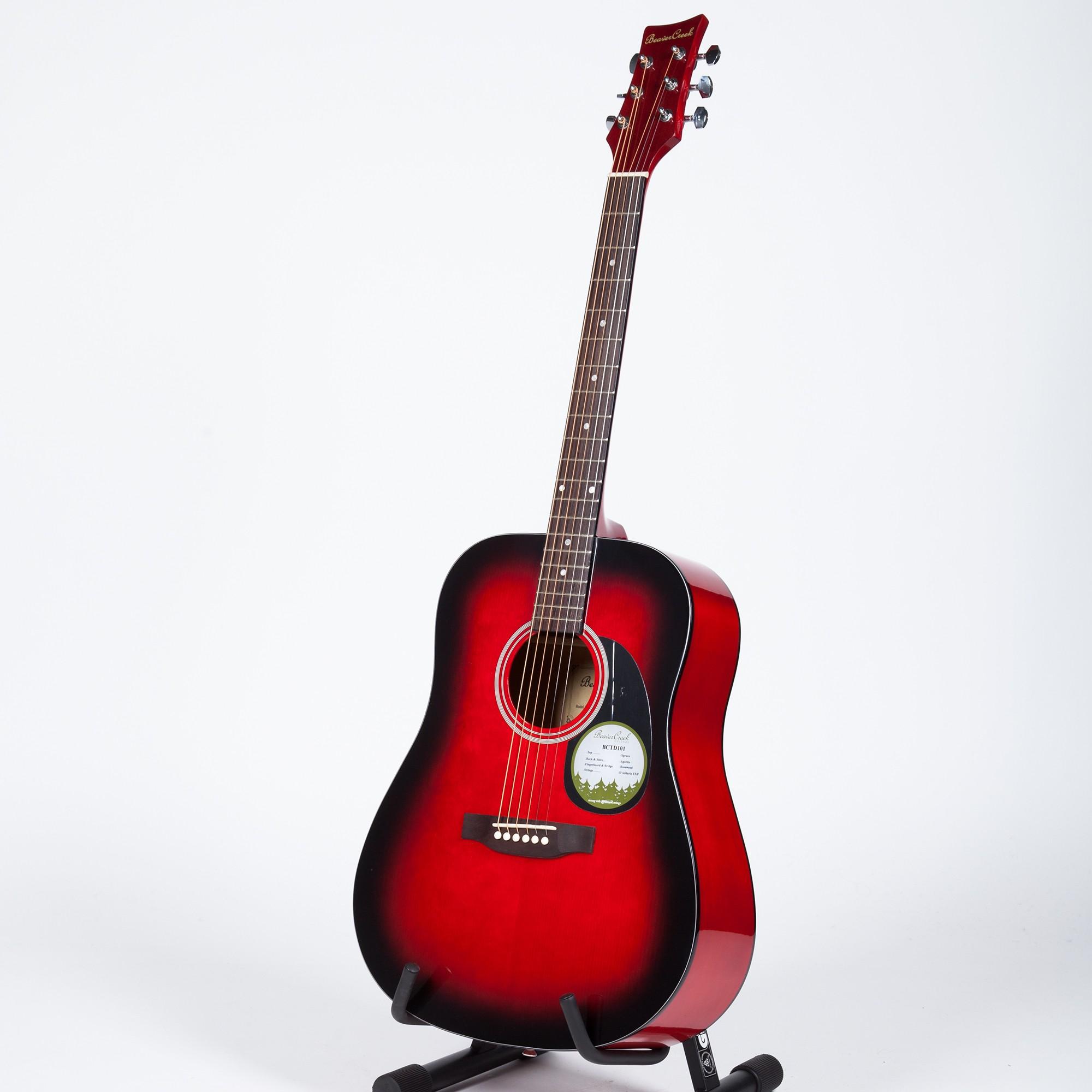 Beats clipart guitar string BeaverCreek BCTD101 BeaverCreek Acoustic Redburst