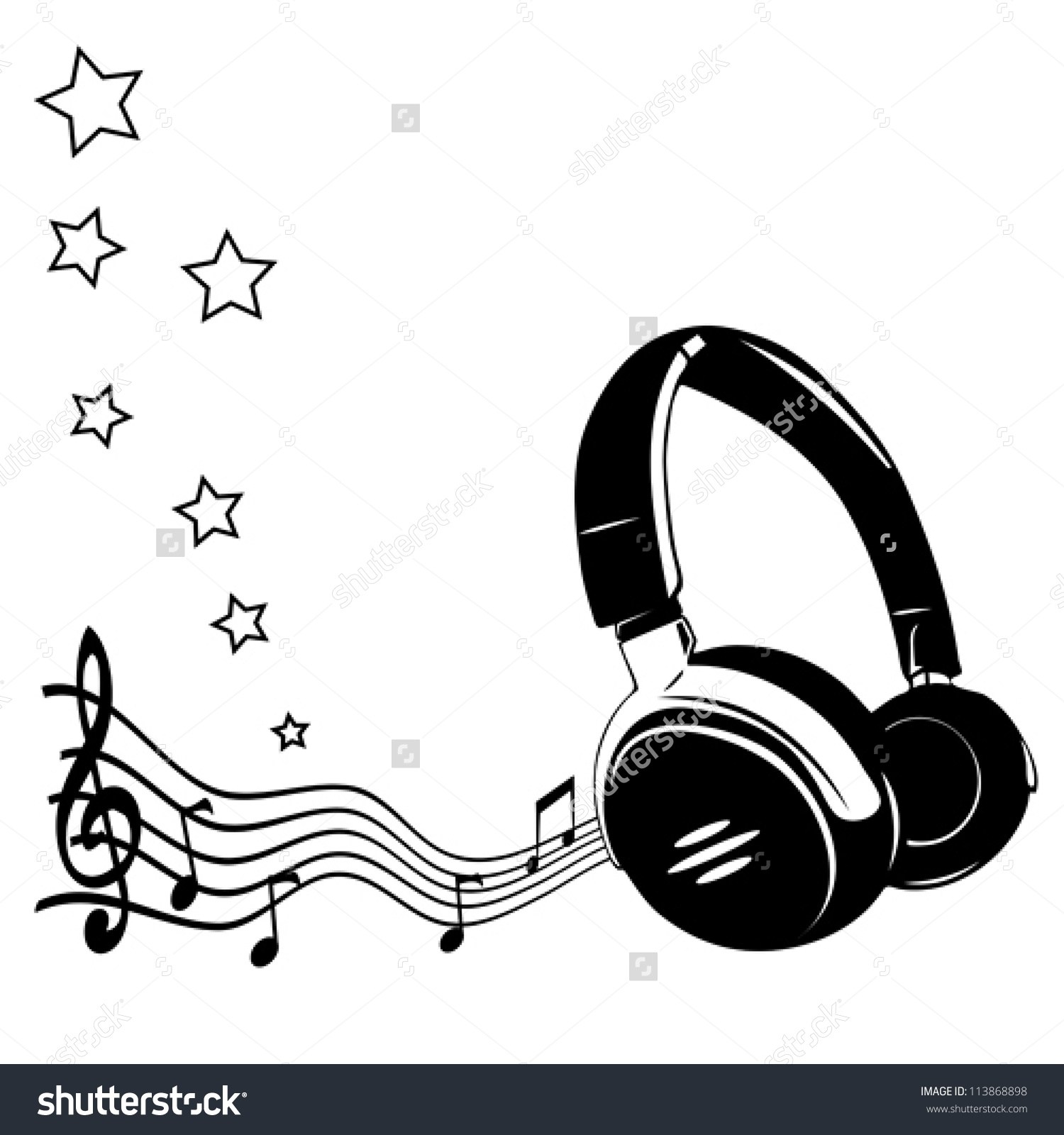 Beats clipart music headset Music Music With headphones notes