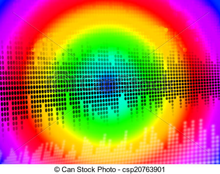 Beats clipart sounds Techno Illustration Equalizer of Background