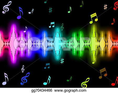 Beats clipart sounds Graphic wave Stock Illustrations Clipart