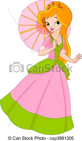 Beautiful clipart Beautiful Beautiful princess summer Vector