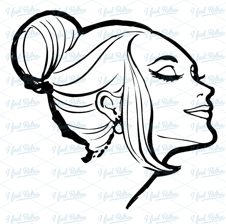 Beautiful clipart Retro Lady Clipart Download Vintage