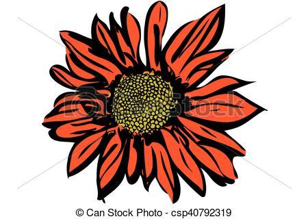 Beautiful clipart autumn flower Beautiful vector autumn chrysanthemum flower