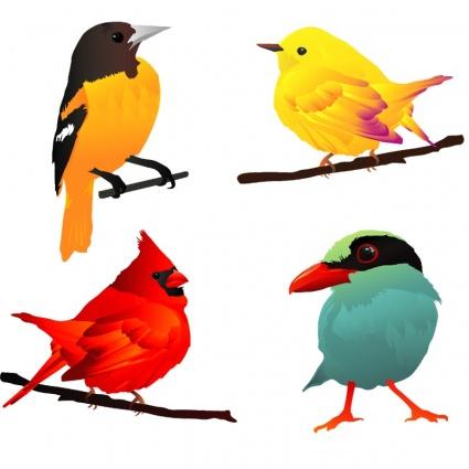 Bird clipart four Birds Beautiful ClipartLogo Birds clip