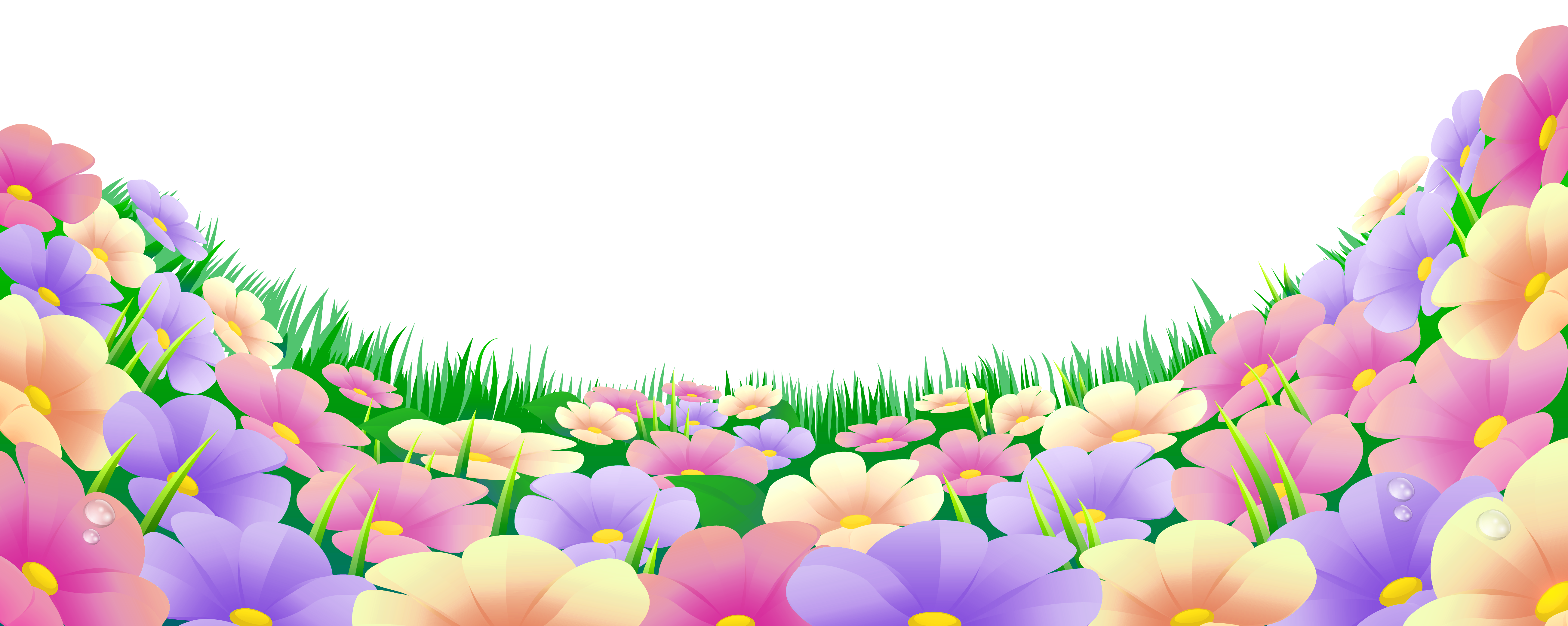 Beautiful clipart beautiful flower With Grass Flowers Flowers