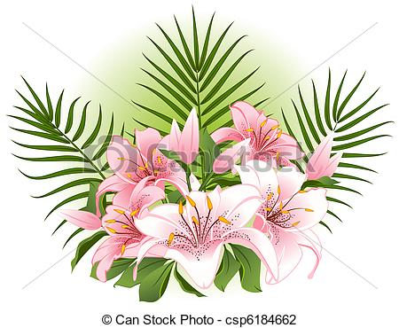 Beautiful clipart beautiful flower Of Illustration with flowers with