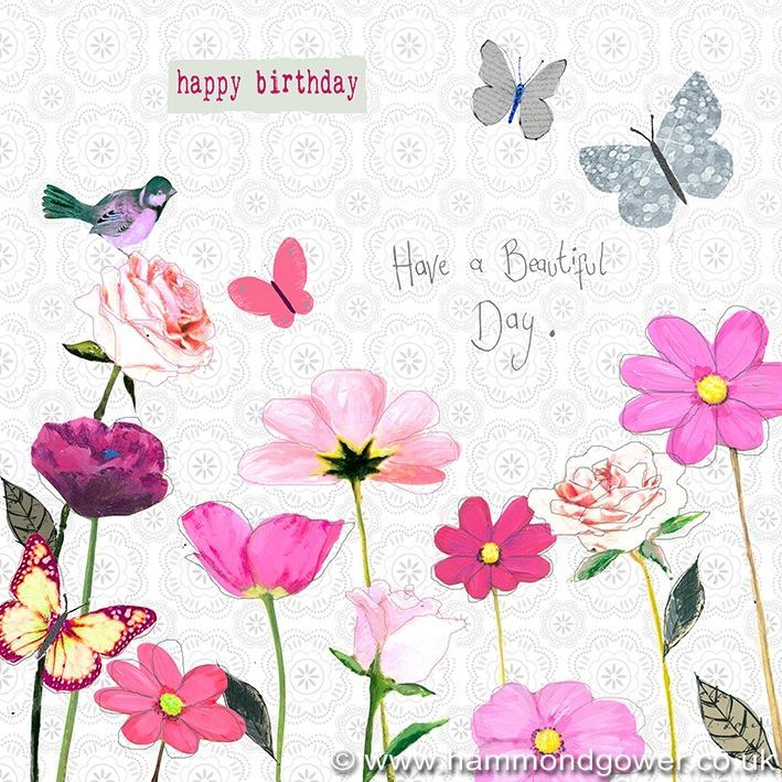 Beautiful clipart birthday flower Birthday in for butterflies ♥
