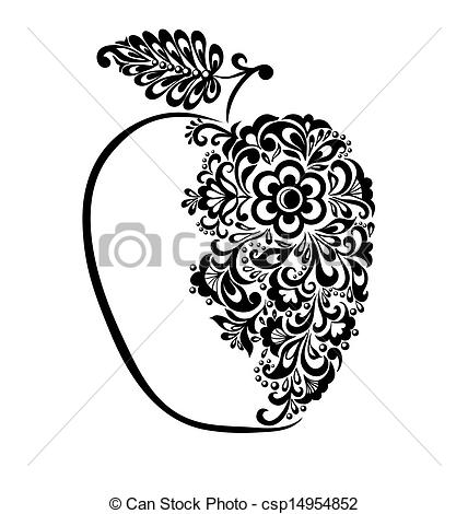 Beautiful clipart black and white With of beautiful black Vector