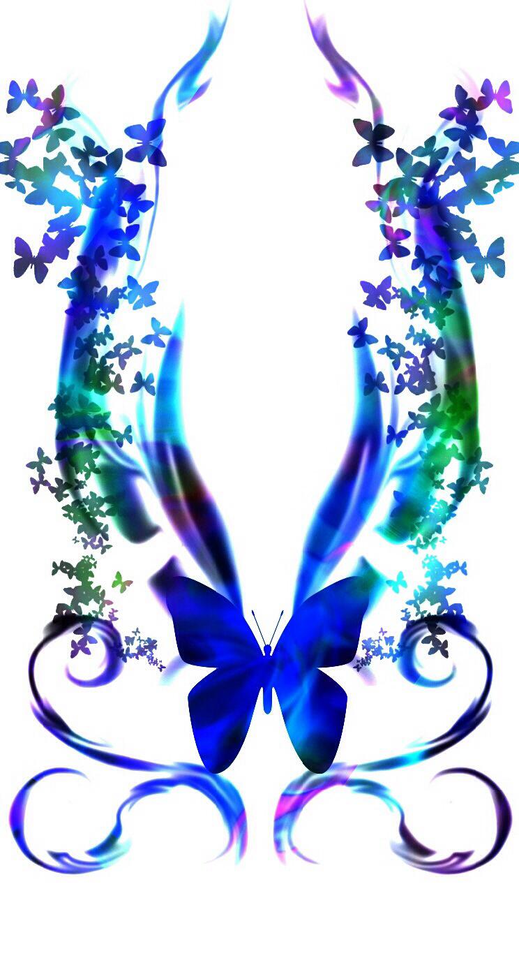Beautiful clipart blue butterfly That 3D Models  blue