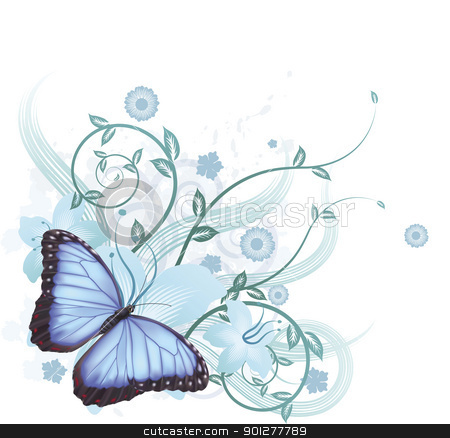 Beautiful clipart blue butterfly Background blue Beautiful Beautiful vector
