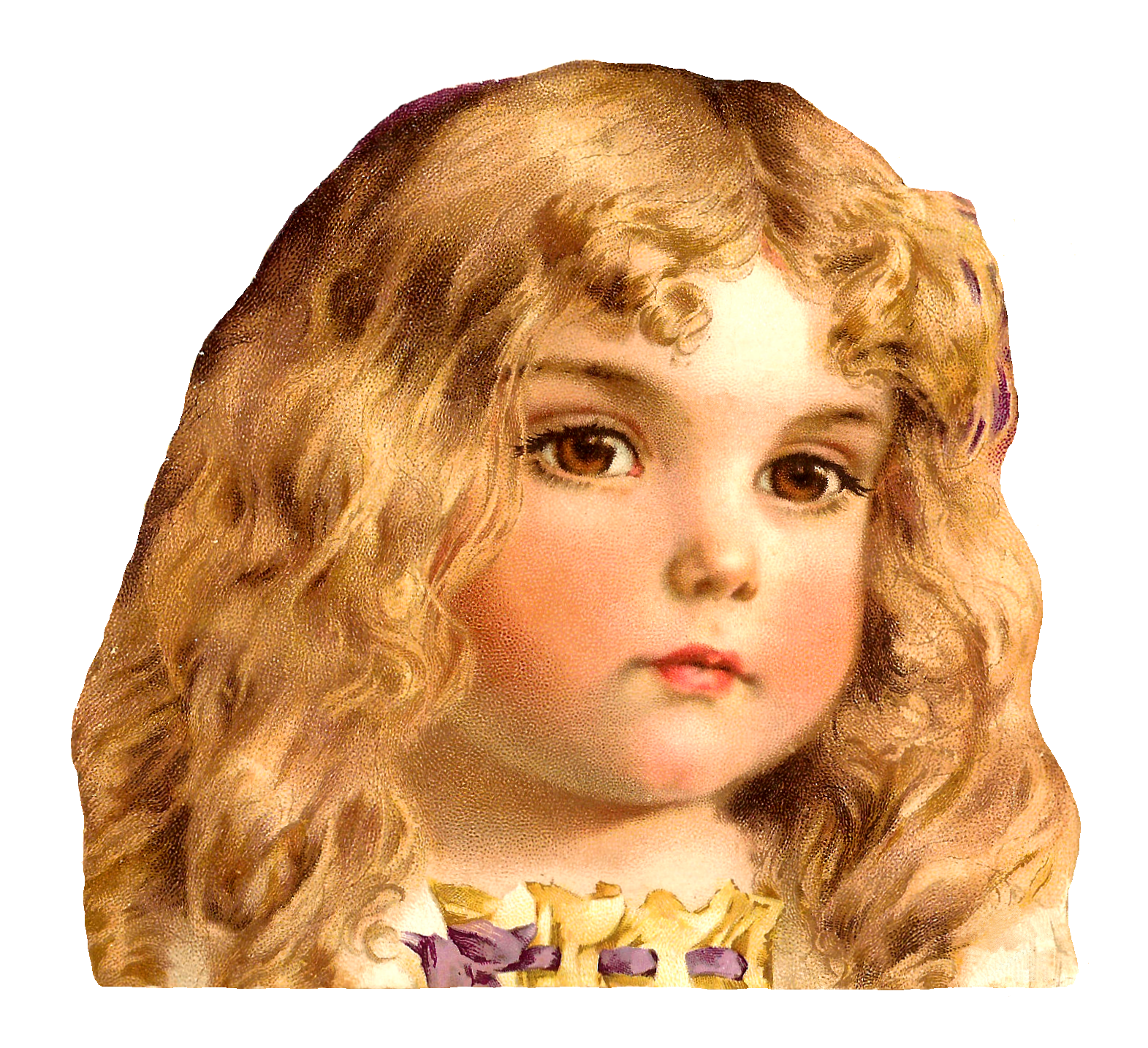 Beautiful clipart brown hair Pretty Child with Eyes with
