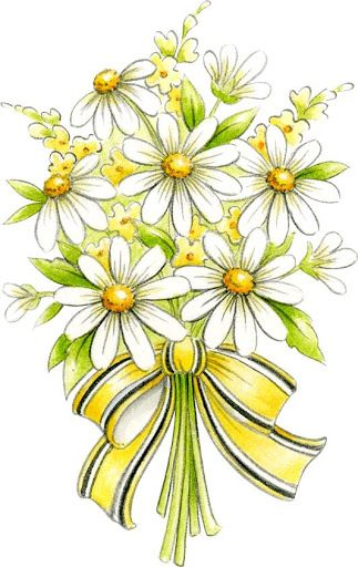 Chamomile clipart flower bunch CLIP 143 ETC on on