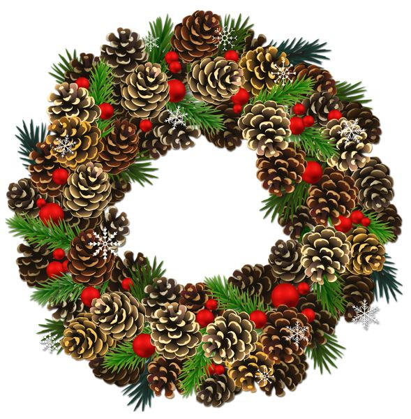 Wreath clipart holiday decoration Images Pinterest on PNG Christmas