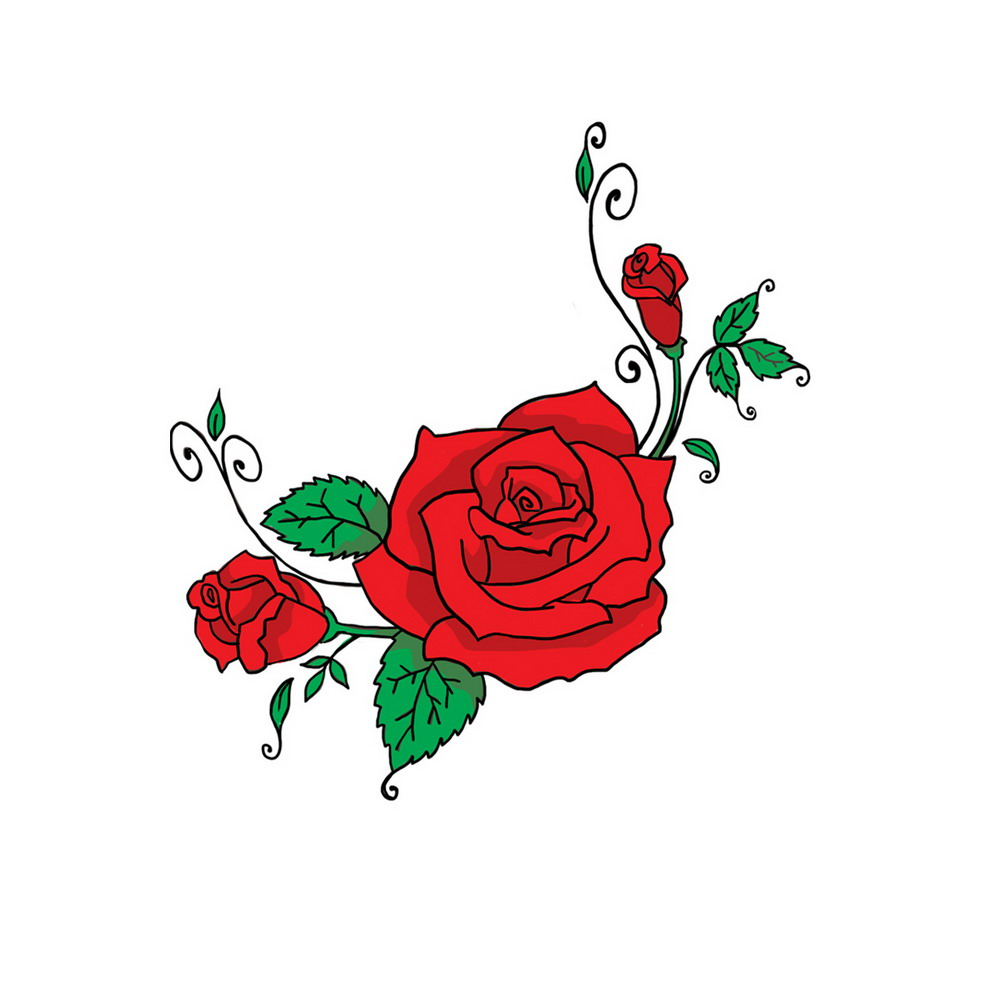 Cartoon clipart rose Free Images Download Clip
