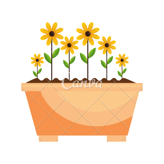 Beautiful clipart flower bucket Icons Icon Icon in Canva