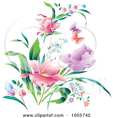 Beautiful clipart flower butterfly Clip Art Clip Beautiful Spring