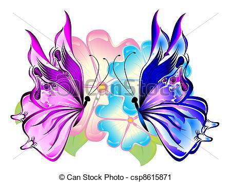 Beautiful clipart flower butterfly Flowers butterfly  Butterflies csp8615871