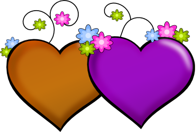 Beautiful clipart flower heart Hearts And Panda Clipart Flowers