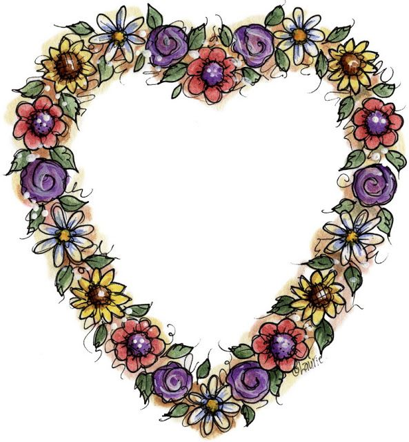 Beautiful clipart flower heart More and on Pinterest images