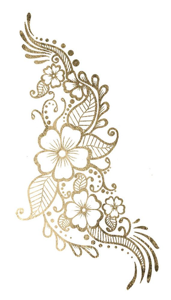 Beautiful clipart gold flower 25+ Metallic Flash Simple Tattoo