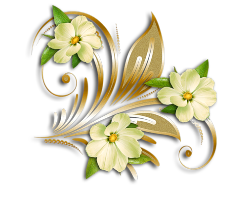 Beautiful clipart gold flower Ornament  Ornament Clipart Gold