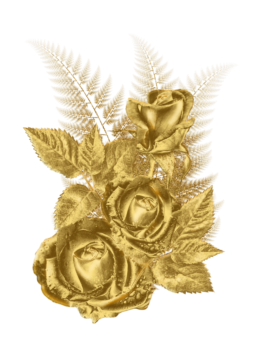 Beautiful clipart gold flower ✎ Flower roula33 golden roula33
