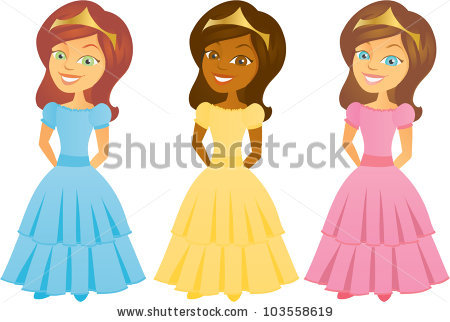 Beautiful clipart pink princess Cartoon Art collection Clip Princesses
