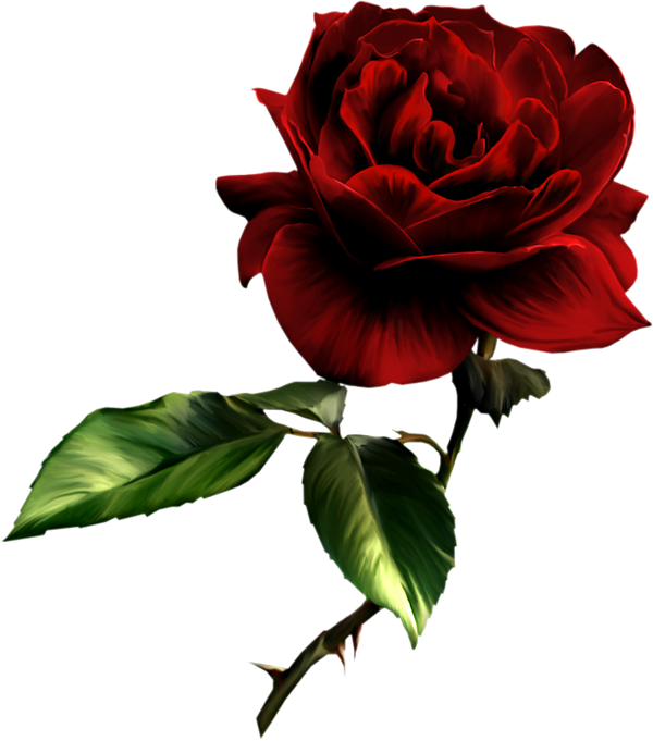 Red Flower clipart nice view #1