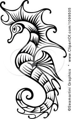 Beautiful clipart seahorse Seahorse Graphics Black Seahorse White