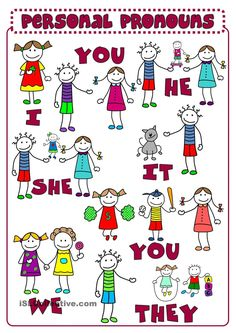Hello! clipart she pronoun Subject for Pronouns Worksheets Personal