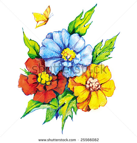 Beautiful clipart wig Clipart bouquet%20of%20flowers%20drawing Free Images Bouquet