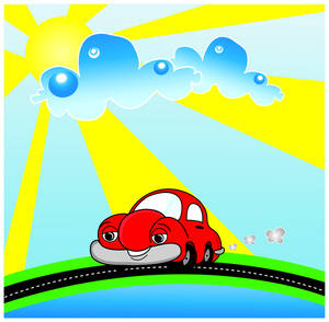 Beautiful clipart sunny day Drive a Clipart a a