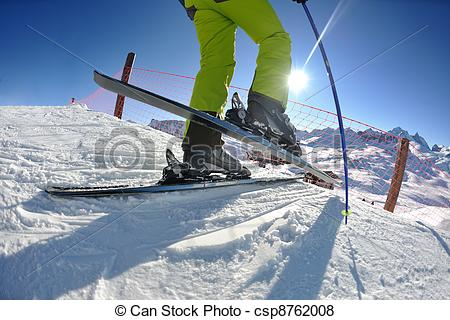 Beautiful clipart sunny season Beautiful day winter skiing