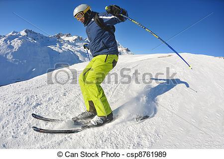 Beautiful clipart sunny season At day at skiing
