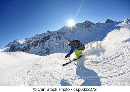 Beautiful clipart sunny season At day at skiing beautiful