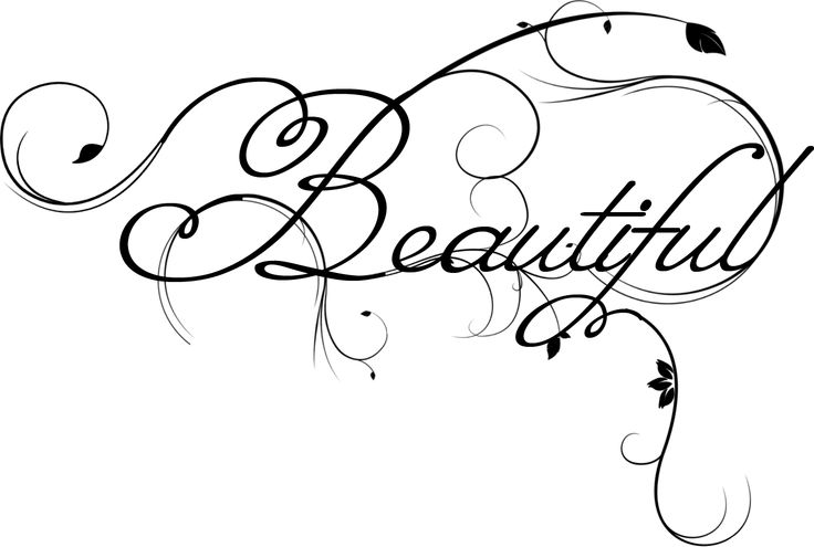 Beautiful clipart the word Beautiful on Pin this more