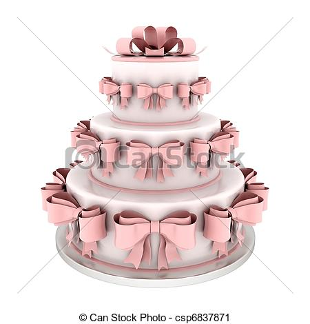 Wedding Cake clipart wedding food  csp6837871 wedding cake on