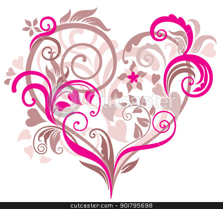 Beautiful clipart you are Beautiful heart background with vector