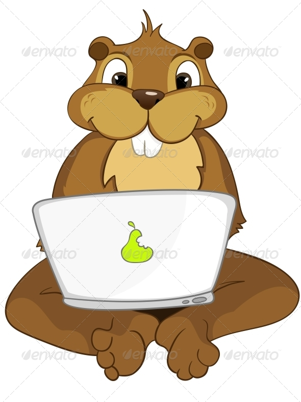 Beaver clipart adorable Cartoon Character  Beaver