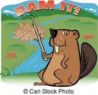 Beaver clipart building Beaver A beaver happy Dam