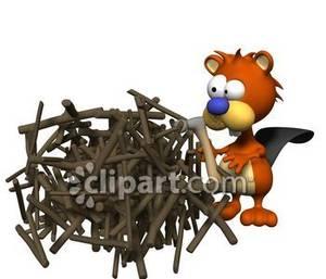 Beaver clipart building D Picture Beaver D Cartoon