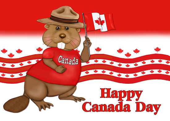Beaver clipart canada day Canada Day Happy giving We