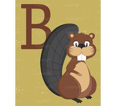 Beaver clipart canadian baby Beaver Decor Clipart Kids